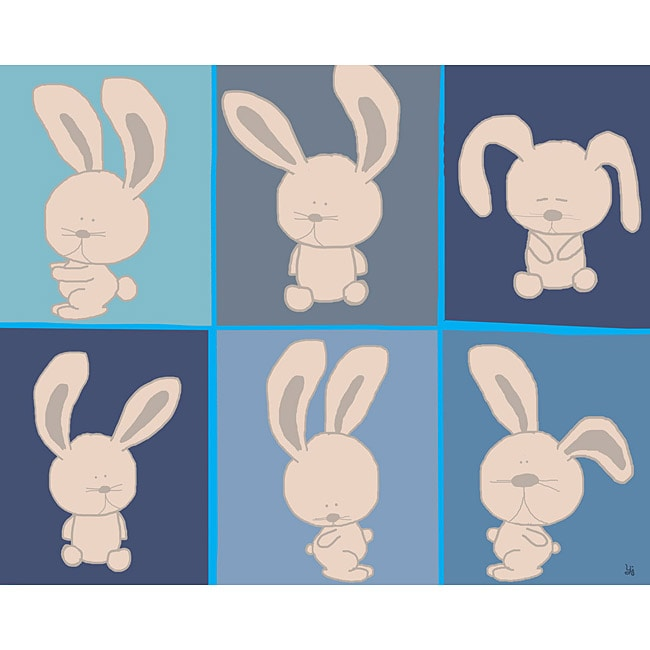 Ankan 'Yoga Bunnies' Gallery-wrapped Canvas Art