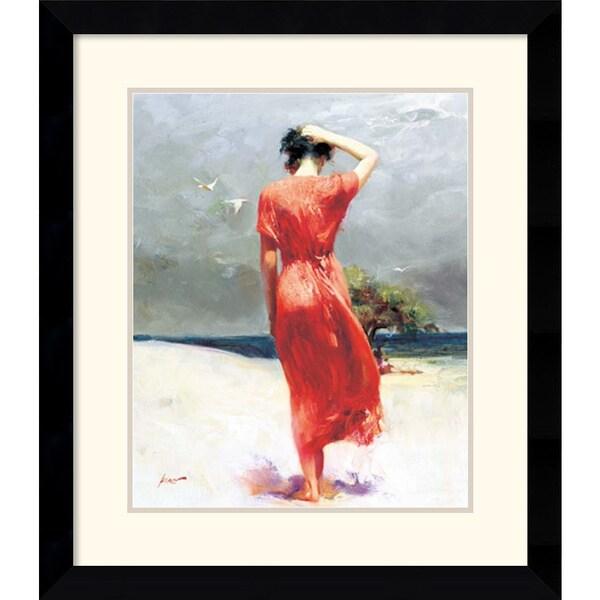 Pino 'Beachside Stroll' Framed Art Print