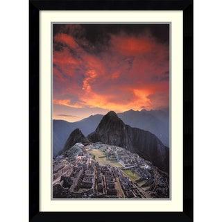 Galen Rowell 'Sunset Over Machu Picchu, Peru' Framed Art Print