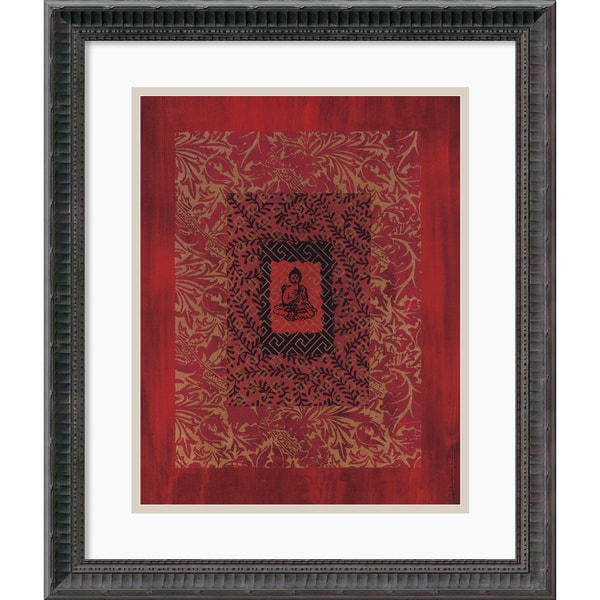 Framed Art Print 'Buddha II' by Ricki Mountain 18 x 21-inch