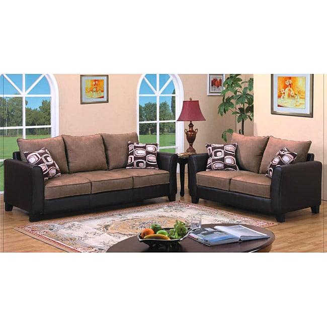 Jensen Light Brown Sofa and Loveseat