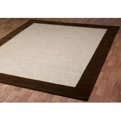 Hand-tufted Brown Wool and Natural Jute Rug (5' x 8') - Thumbnail 1