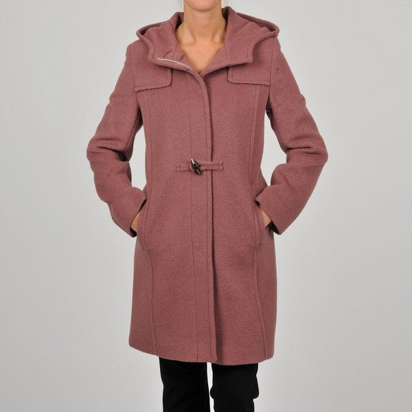 Hilary Radley Collection Women's Brick Toggle Coat