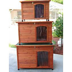 Crown Pet Small Cedar Slant Roof Pet House