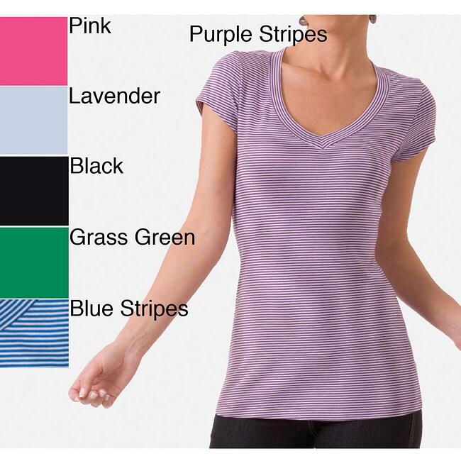 Ilusion Women's Cotton Short Sleeve V-neck T-Shirt