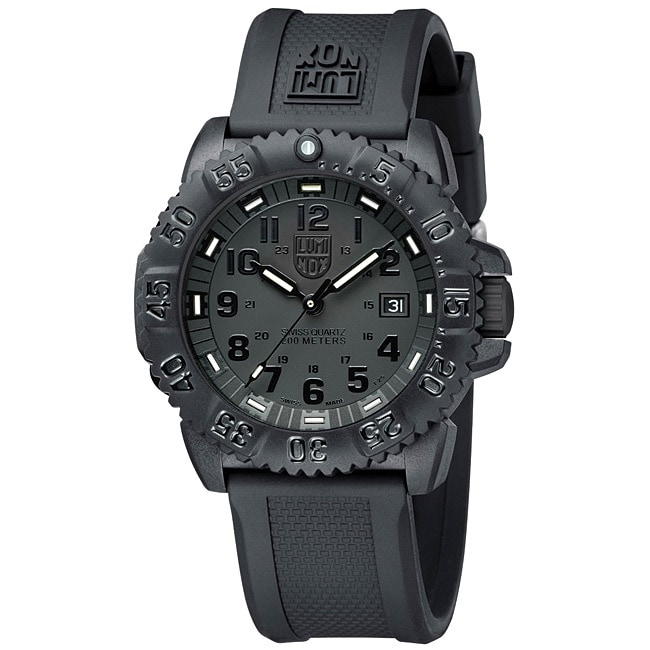 Luminox Men's Colormark Blackout Watch, Black, Size One S...