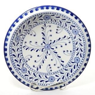 Handmade Azoura Design Ceramic 14-inch Serving Bowl (Tunisia)