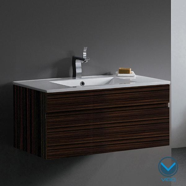 Vigo 35-Inch Single Bathroom Vanity Cabinet