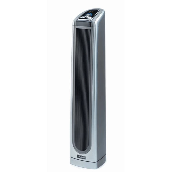 lasko ceramic tower heater shop lasko electric convection heater thermostat gray 30790