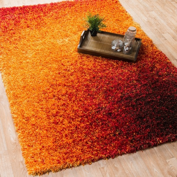 The Curated Nomad Vesuvio Sunset Shag Area Rug - 5'2 x 7'7