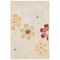 Safavieh Handmade Blossom Beige Wool Accent Rug (2' x 3')
