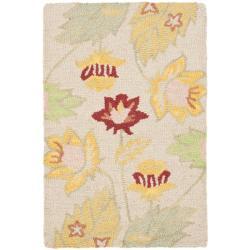 Safavieh Handmade Blossom Ivory Wool Rug (2' x 3')