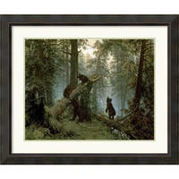 Framed Art Print 'Morning in a Pine Forest' by Ivan Ivanovich Shishkin 39 x 33-inch