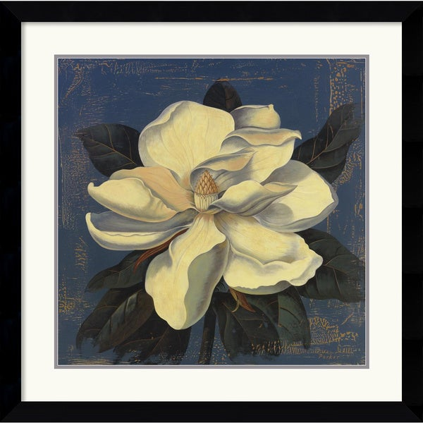 Curtis Parker 'Glowing Magnolia' 33 x 33-inch Framed Art Print