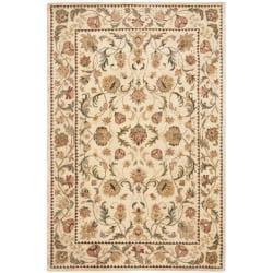 Safavieh Handmade Eden Ivory Hand-spun Wool Rug (5' x 8')