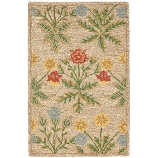 "Safavieh Handmade Blossom Beige Wool Rug - 2'-6"" x 4'"