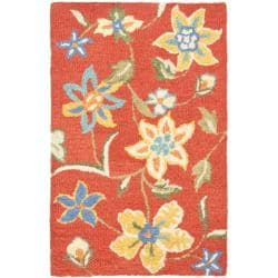 Safavieh Handmade Blossom Rust Wool Rug (2'6 x 4')
