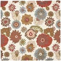 Safavieh Handmade Blossom Ivory Wool Area Rug - 6'