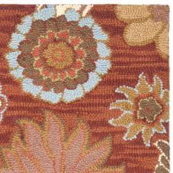 "Safavieh Handmade Blossom Red Wool Accent Rug (2'6"" x 4')"
