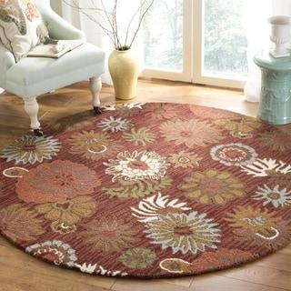 Safavieh Handmade Blossom Red Wool Rug (6' Round)