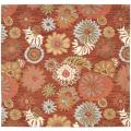 Safavieh Traditional Handmade Blossom Red Wool Rug - 6' x 6' Square
