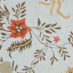Safavieh Handmade Blossom Blue Wool Rug (6' x 6') - Thumbnail 2