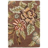 Safavieh Handmade Blossom Brown Wool Rug - 2' X 3'