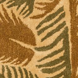 Safavieh Handmade New Zealand Wool Fern Beige Rug (2' x 3') - Thumbnail 2