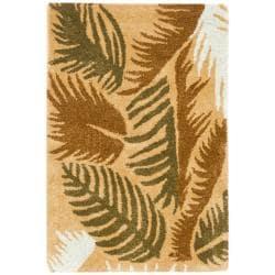 Safavieh Handmade New Zealand Wool Fern Beige Rug - 2' x 3' - Thumbnail 0