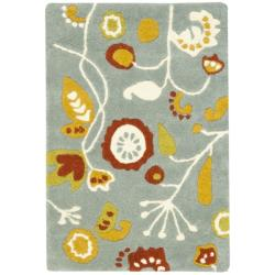 Safavieh Handmade New Zealand Wool Bliss Light Blue Rug (2' x 3')