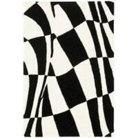 Safavieh Handmade Soho Modern Abstract Black Wool Rug - 2' x 3'