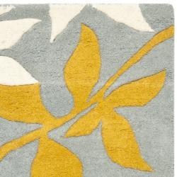Safavieh Handmade New Zealand Wool Barber Blue Rug (2' x 3') - Thumbnail 1