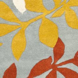 Safavieh Handmade New Zealand Wool Barber Blue Rug (2' x 3') - Thumbnail 2