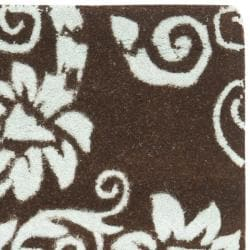 Safavieh Handmade New Zealand Wool Paris Brown/ Blue Rug (2' x 3') - Thumbnail 1