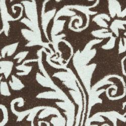 Safavieh Handmade New Zealand Wool Paris Brown/ Blue Rug (2' x 3') - Thumbnail 2