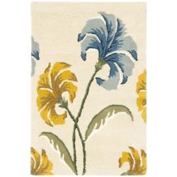 Safavieh Handmade New Zealand Wool Botanical Beige Rug (2' x 3')