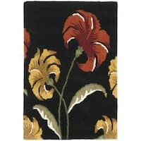 Safavieh Handmade New Zealand Wool Botanical Black Rug - 2' x 3'