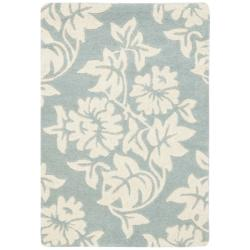Safavieh Handmade New Zealand Wool Bliss Blue Rug (2' x 3')