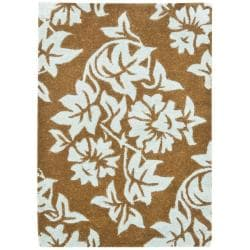 Safavieh Handmade New Zealand Wool Bliss Light Brown Rug (2' x 3')