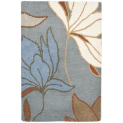 Safavieh Handmade Soho Lakeside Blue New Zealand Wool Rug (2' x 3')