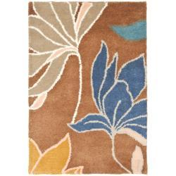 Safavieh Handmade Soho Lakeside Brown New Zealand Wool Rug (2' x 3')