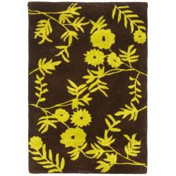 Safavieh Handmade New Zealand Wool Spring Brown/ Green Rug (2' x 3')