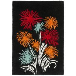 Safavieh Handmade New Zealand Wool Jubilee Black Rug (2' x 3')