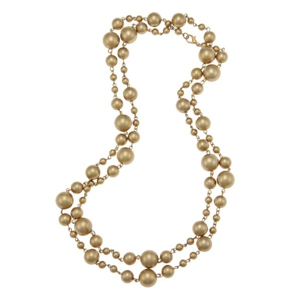 Alexa Starr Goldtone Golden Faux Pearl Necklace