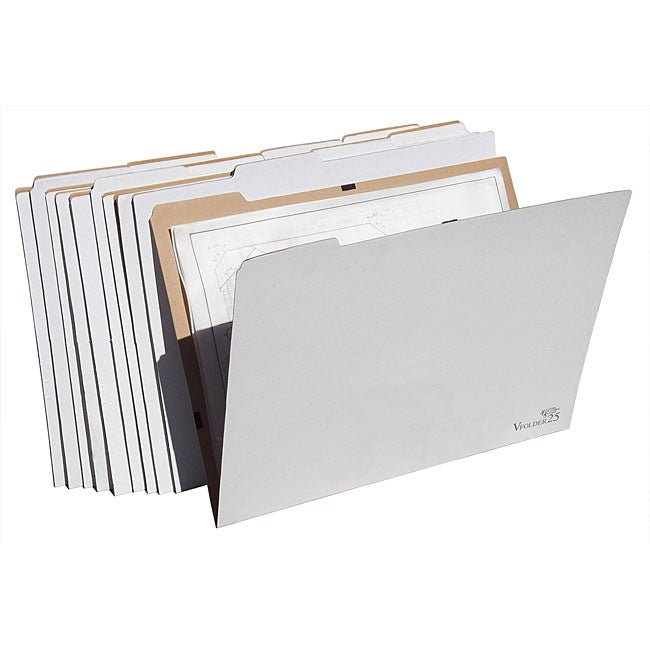 Vfolder25 18 X 24 Inch Flat Items Storage Folders Pack Of