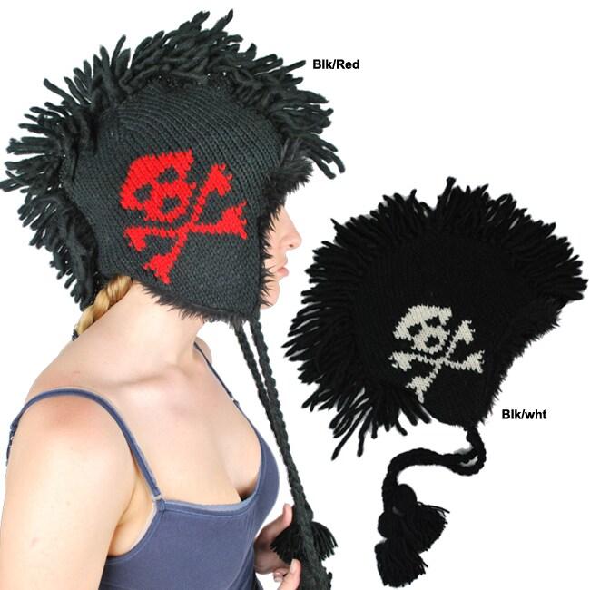 Skull Mohawk Wool Hat (Nepal)