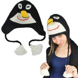 Handmade Women's Penguin Hat (Nepal)