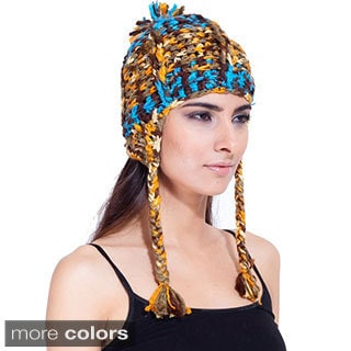 Women's Deep Blue Ocean Hat (Nepal)