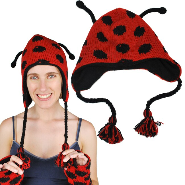 Women's Lady Bug Hat (Nepal)