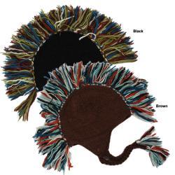 Unisex Multicolor 100-percent Wool Fleece-lined Mohawk Hat (Nepal)